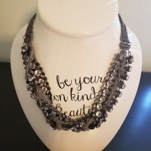 Jewelry - Black and Silver Twist Statement Necklace
